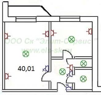 Электромонтажные работы в однокомнатной квартире 137 серии 4.